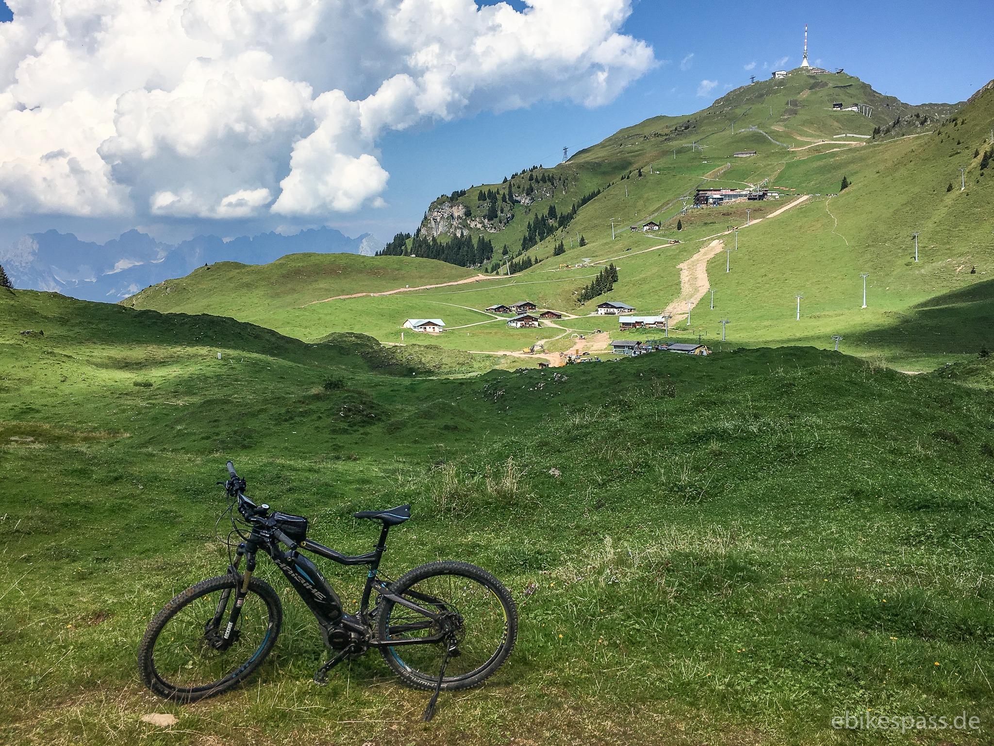 Das Kitzbüheler Horn mit Gasthof Alpenhaus