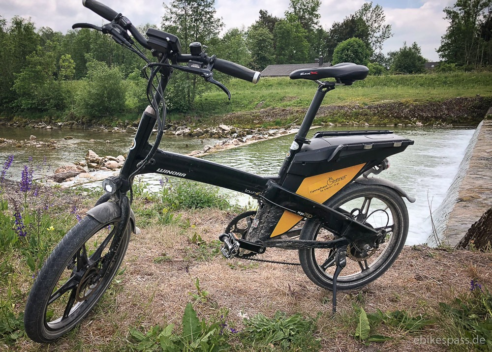 Das Kompakt E-Bike town e:xp von Winora