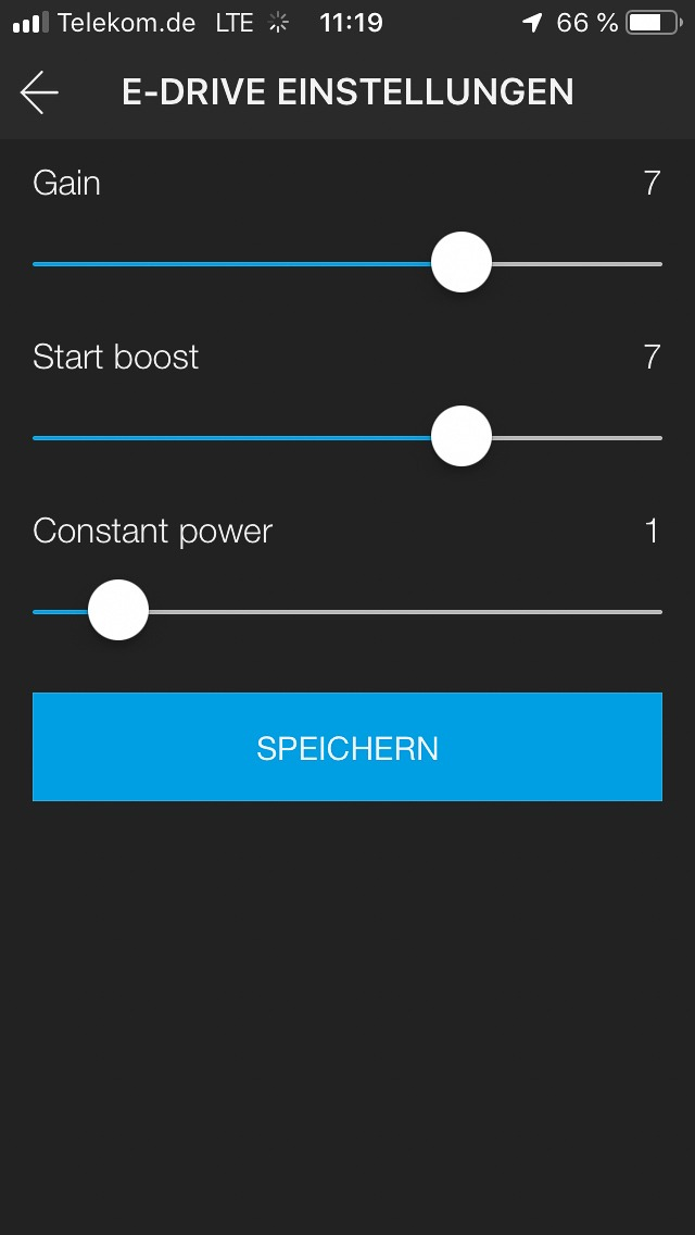 Coboc App: Die Einstellung der Motorcharateristik
