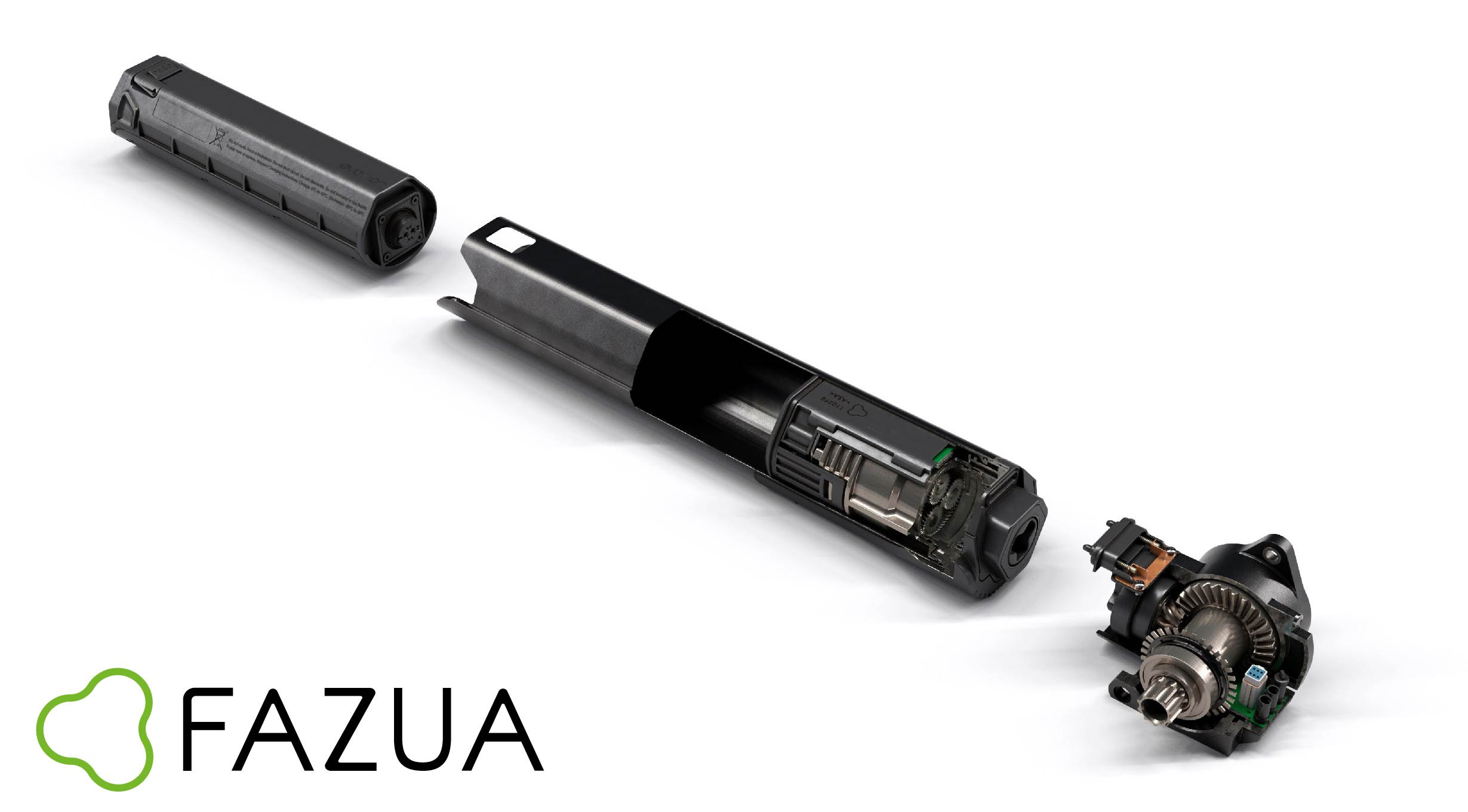 Fazua E-Bike-Motoren-System für den Einbau im Rahmen