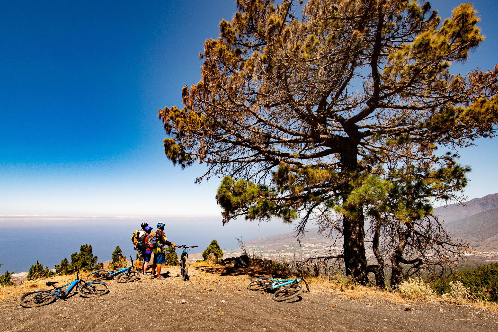 E-Bike Aufstieg oberhalb von Los Llanos