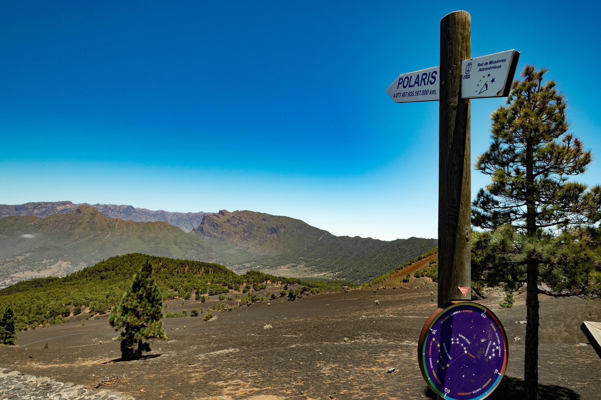 Blick Richtung großer Krater: Caldera de Taburiente