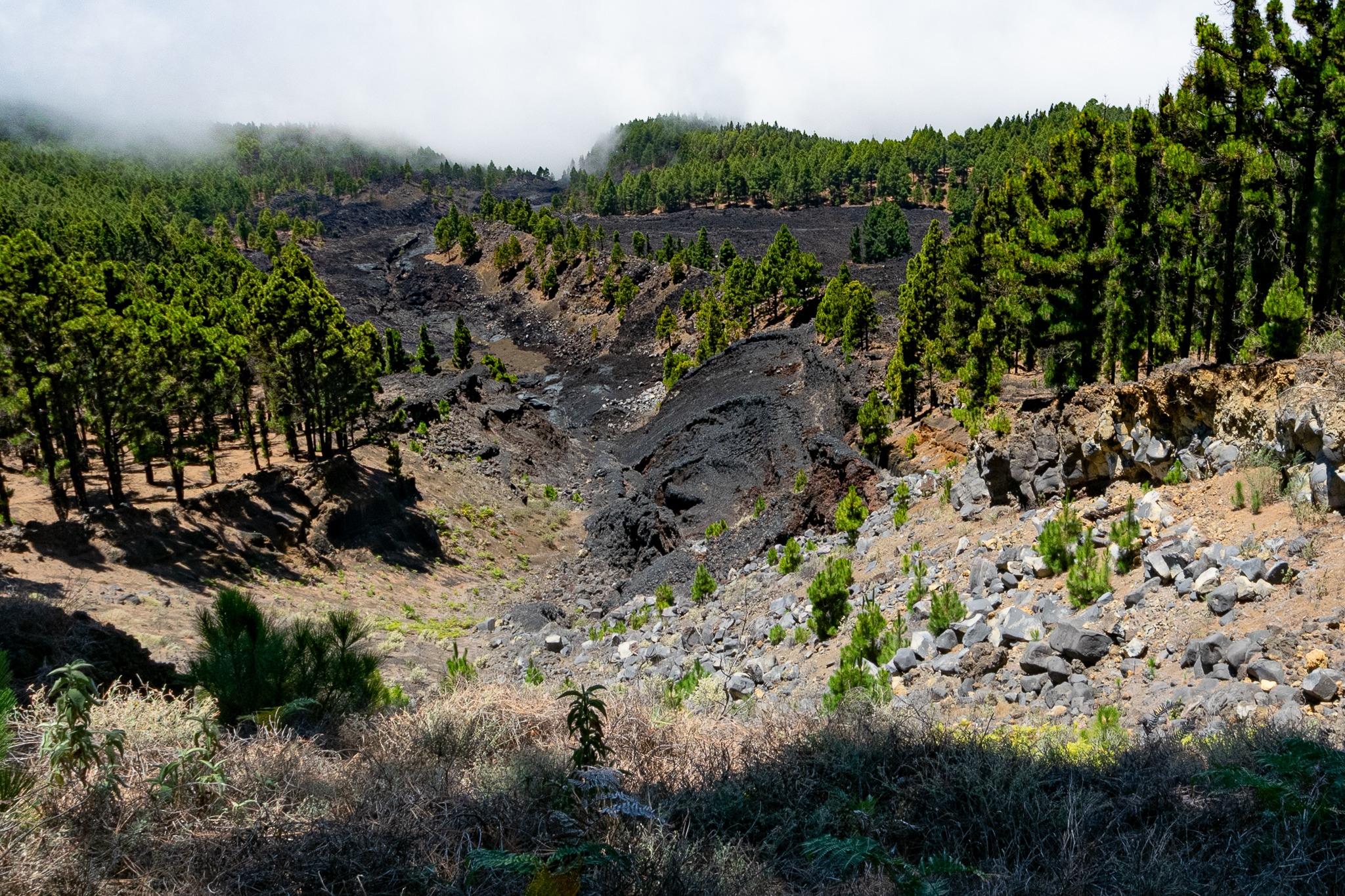 Lavastrom des Vulkans San Juan