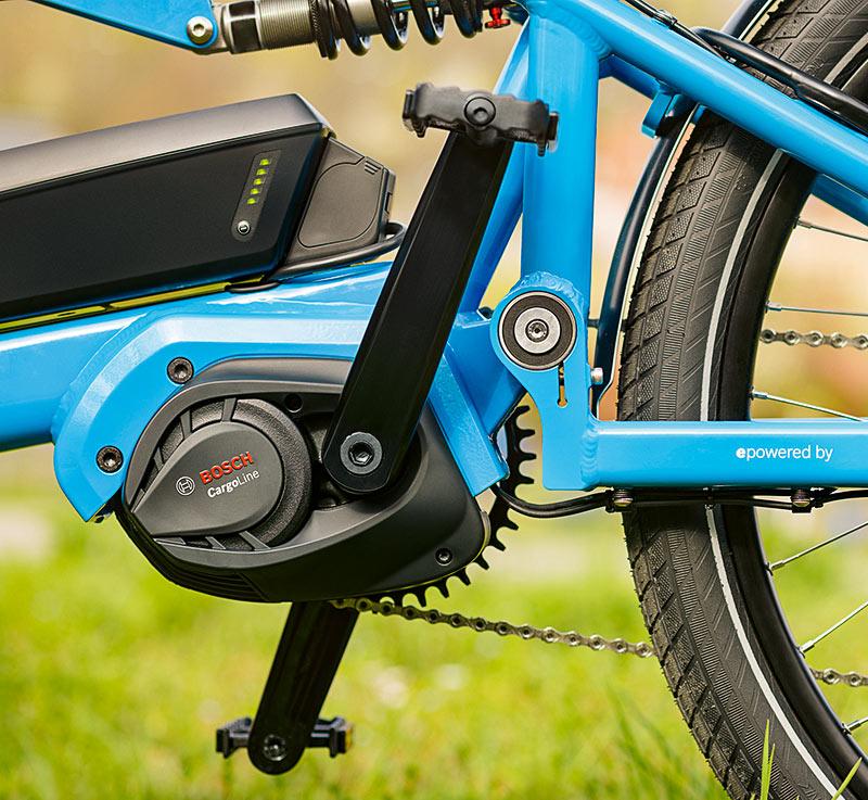 E-Bike mit Motor der Bosch Cargo Line