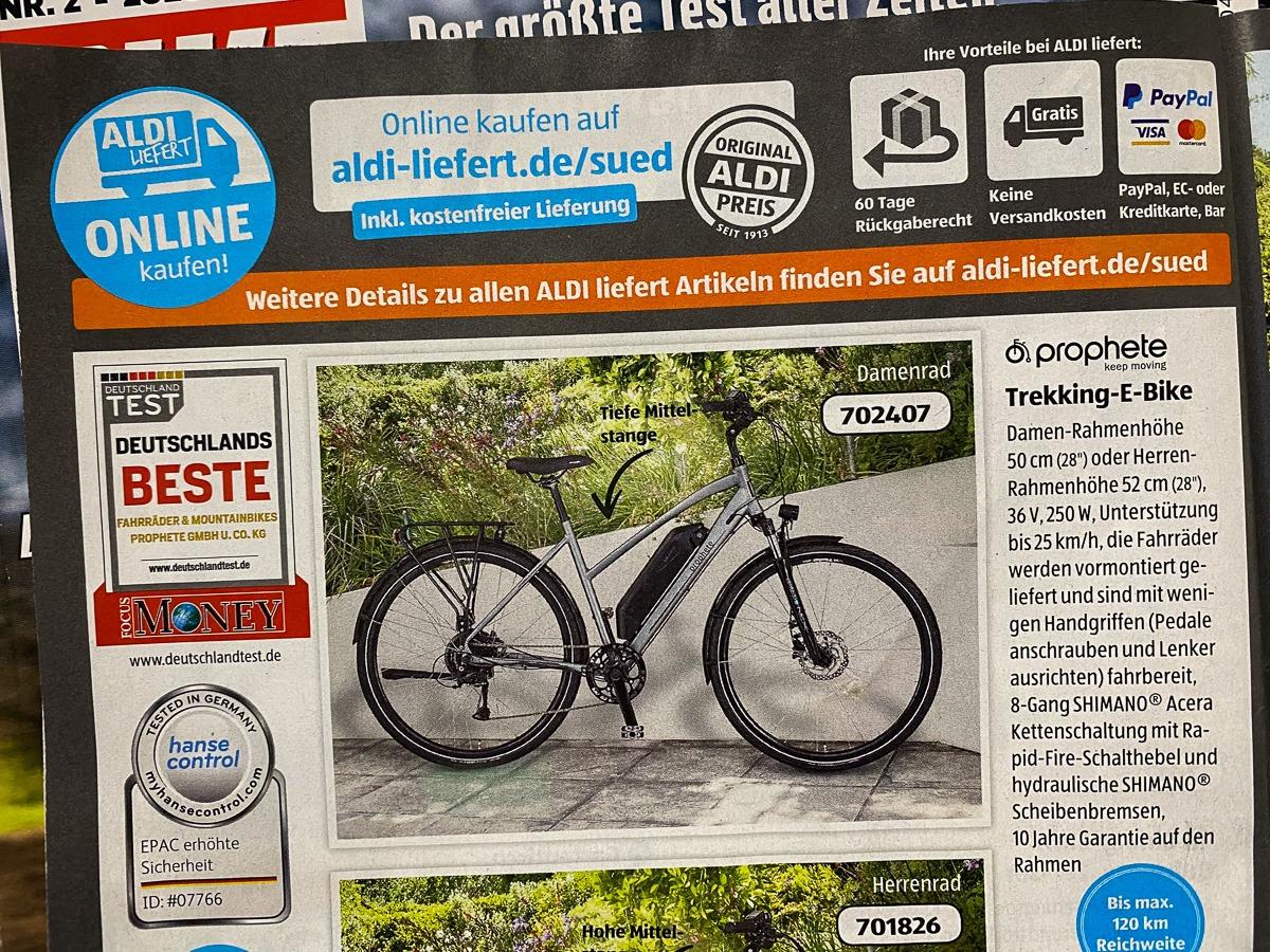 E-Bike-Angebot bei ALDI