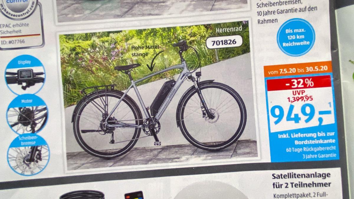 Aldi Trekking-E-Bike Angebot