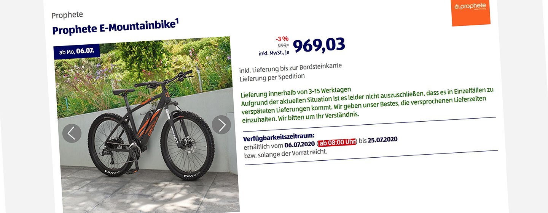ALDI E-Mountainbike von Prophete