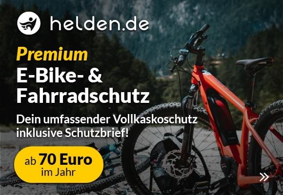 E-Bike und Fahrradversicherung von helden.de