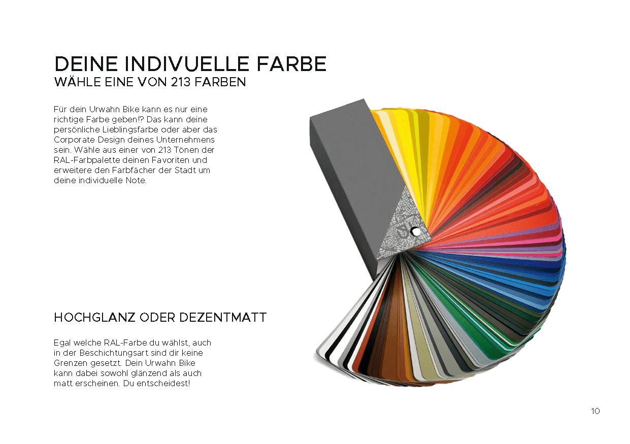 RAL-Farben zurIndividualisierung für den Platzhirsch