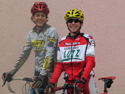 Vincent und Fabian als Radsportler