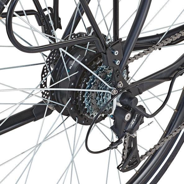 Hinterradnabenmotor beim Aldi Trekking E-Bike von Prophete
